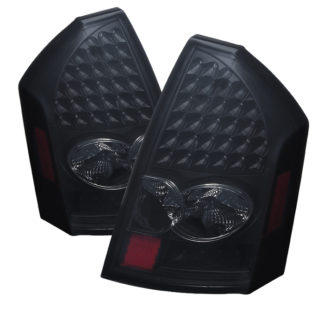 ( xTune ) Chrysler 300C 05-07 LED Tail Lights - Black Smoke