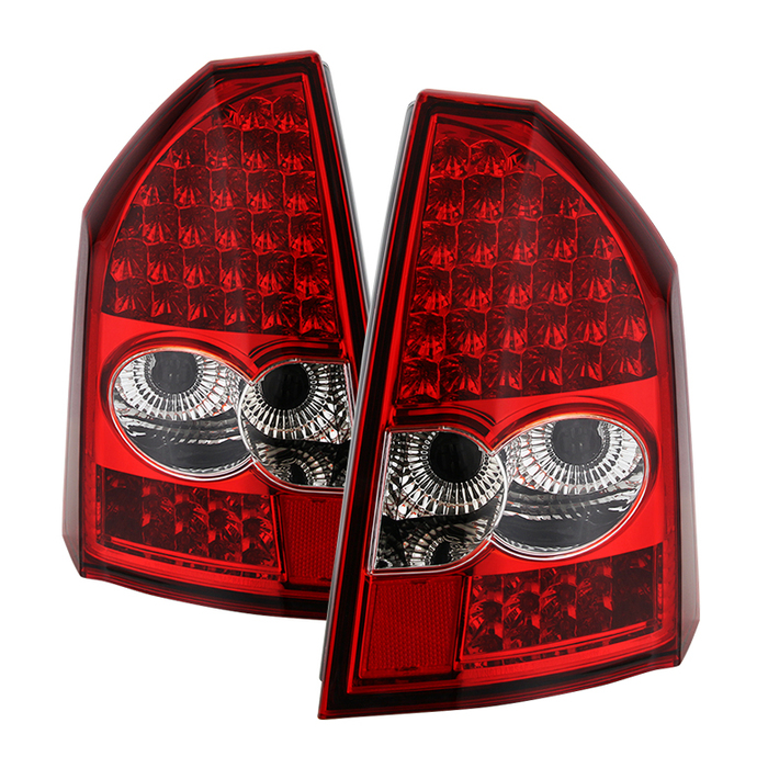 ( xTune ) Chrysler 300C 05-07 LED Tail Lights - Red Clear