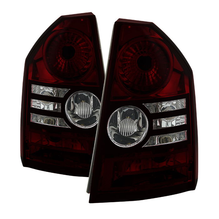 ( xTune ) Chrysler 300 2008-2010 ( Fit Base & Touring Models only and models with 2.7L or 3.5L Engines only ) OEM Style Tail Lights -Red Smoked