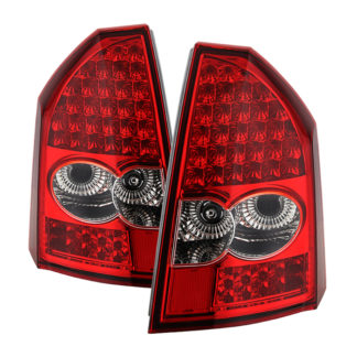 ( xTune ) Chrysler 300 05-07 LED Tail Lights - Red Clear