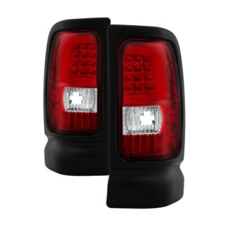 ALT-ON-DRAM94V3-LBLED-RC ( xTune ) Dodge Ram 1500 94-01 / Ram 2500/3500 94-02 Tail Lights - Light Bar LED - Red Clear
