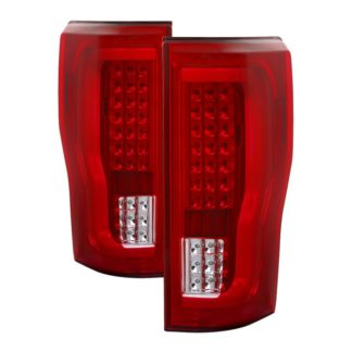 ALT-ON-FS17-LBLED-RC ( xTune ) Ford F250 Superduty 2017-2018 (Does Not Fit Factory LED Model) LED Tail Lights - Red Clear