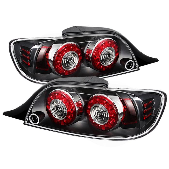 ALT-ON-MRX804-LED-BK ( xTune ) Mazda RX-8 04-08 LED Tail Lights - Black