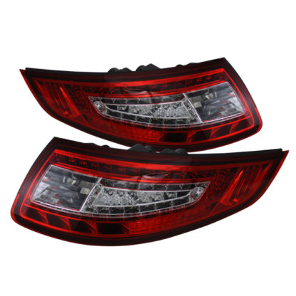 ALT-ON-P99705-LED-RC ( xTune ) Porsche 911 997 05-08 LED Tail Lights - Red Clear