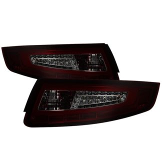 ALT-ON-P99705V2-LBLED-RS ( xTune ) Porsche 911 997 05-08 Light Bar LED Tail Lights - Red Smoke