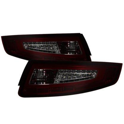 ALT-ON-P99705V2-LBLED-RS ( xTune ) Porsche 911 997 05-08 Light Bar LED Tail Lights - Red Smoke