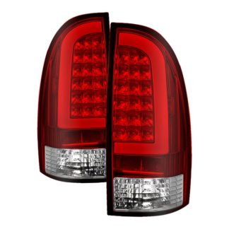 ALT-ON-TT05-LBLED-RC ( xTune ) Toyota Tacoma 05-15 Light Bar LED Tail Lights (not compatible with factory equipped led tail lights) - Red Clear