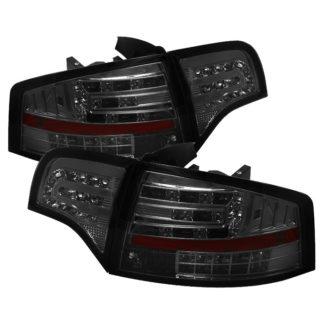 ( Spyder ) Audi A4 4Dr 06-08 LED Tail Lights - Smoke