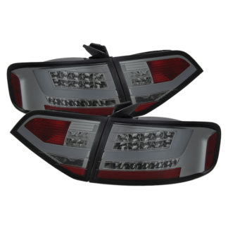 ( Spyder ) Audi A4 09-12 4Dr LED Tail Lights - Incandescent Model Only ( Not Compatible With LED Model ) - Smoke