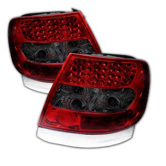 ( Spyder ) Audi A4 96-01 LED Tail Lights - Red Smoke