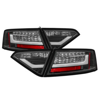 ( Spyder ) Audi A5 08-12 LED Tail Lights - Incandescent Model Only ( Not Compatible With LED Model ) - Black