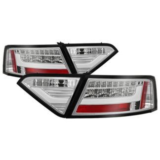 ( Spyder ) Audi A5 08-12 LED Tail Lights - Incandescent Model Only ( Not Compatible With LED Model ) - Chrome