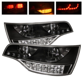 ( Spyder ) Audi Q7 07-09 LED Tail Lights - Black