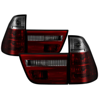 ( Spyder ) BMW E53 X5 00-06 4PCS Euro Style Tail Lights- Red Smoke