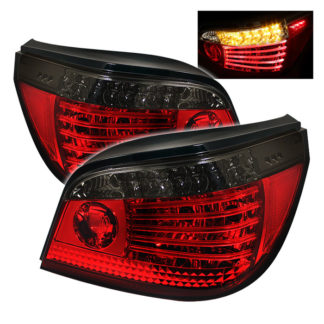 ( Spyder ) BMW E60 5-Series 04-07 LED Tail Lights - Red Smoke