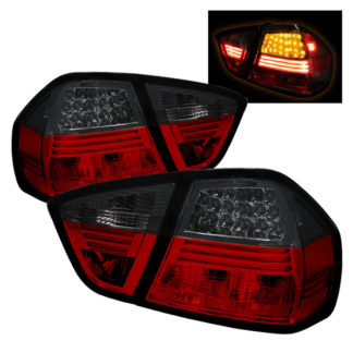 ( Spyder ) BMW E90 3-Series 06-08 4Dr LED Tail Lights - Red Smoke