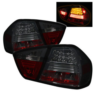 ( Spyder ) BMW E90 3-Series 06-08 4Dr LED Tail Lights - Smoke