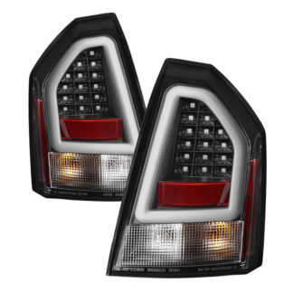( Spyder ) Chrysler 300C 08-10 Version 2 Light Bar LED Tail Lights - Black
