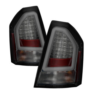 ( Spyder ) Chrysler 300C 08-10 Version 2 Light Bar LED Tail Lights - Smoke