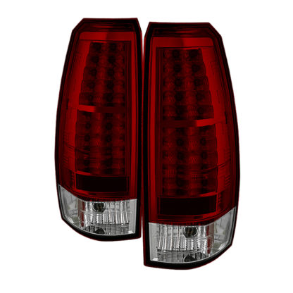 ( Spyder ) Chevy Avalanche 07-13 LED Tail Lights - Red Clear