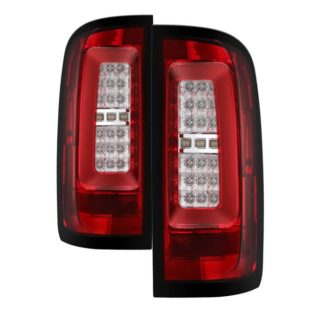 ( Spyder ) Chevy Colorado 2015-2017 LED Tail Lights - Red Clear