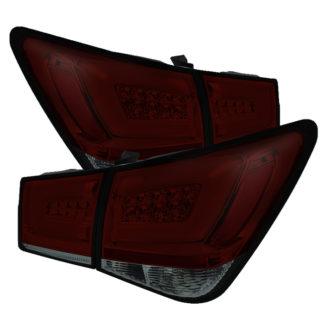 ( Spyder ) Chevy Cruze 2011-2015  Cruze Limited 2016 Light Bar LED Tail Lights - Red Smoke
