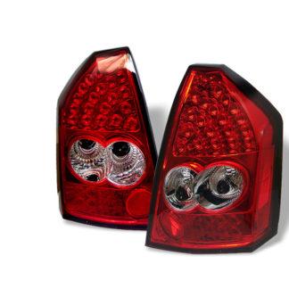 ( Spyder ) Chrysler 300 05-07 LED Tail Lights - Red Clear