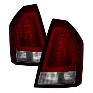 ( Spyder ) Chrysler 300 05-07 Version 2 Light Bar LED Tail Lights - Red Clear