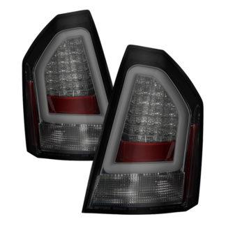 ( Spyder ) Chrysler 300 05-07 Version 2 Light Bar LED Tail Lights - Smoke