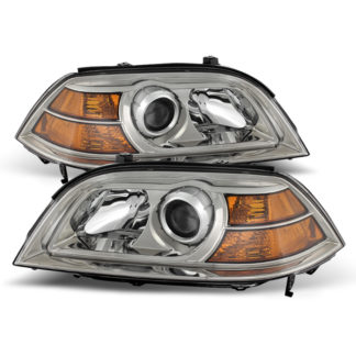 ( OE ) Acura MDX 2004-2006 Crystal Headlights - Chrome
