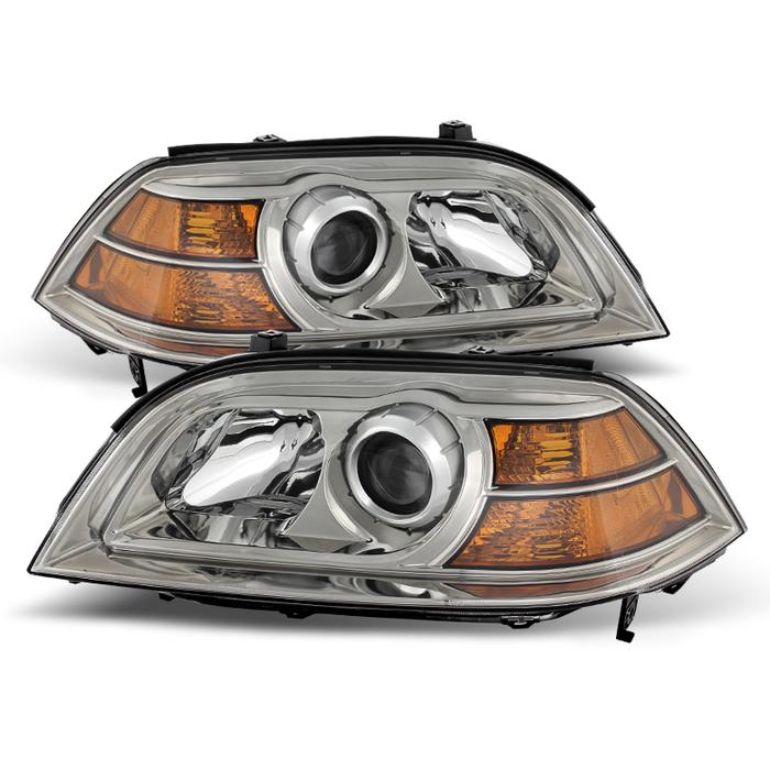 ( OE ) Acura MDX 2004-2006 Crystal Headlights - Chrome