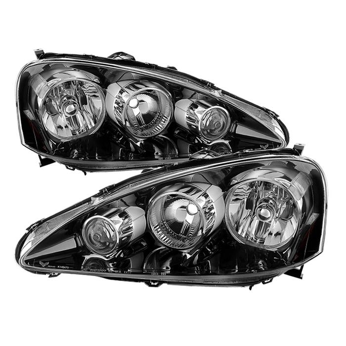( OE ) Acura RSX 2005-2006 OEM Style headlights -Black