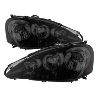 ( xTune ) Acura RSX 2005-2006 OEM Style headlights -Black Smoked