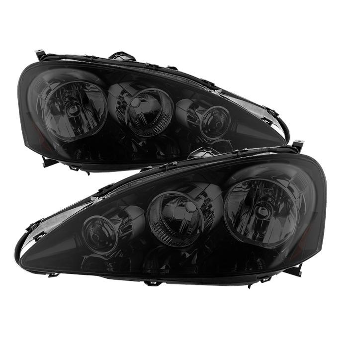 ( xTune ) Acura RSX 2005-2006 OEM Style headlights -Black Smoked