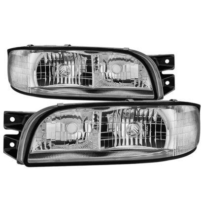( OE ) Buick LeSabre 1997-1999 OEM Style Headlights - Chrome