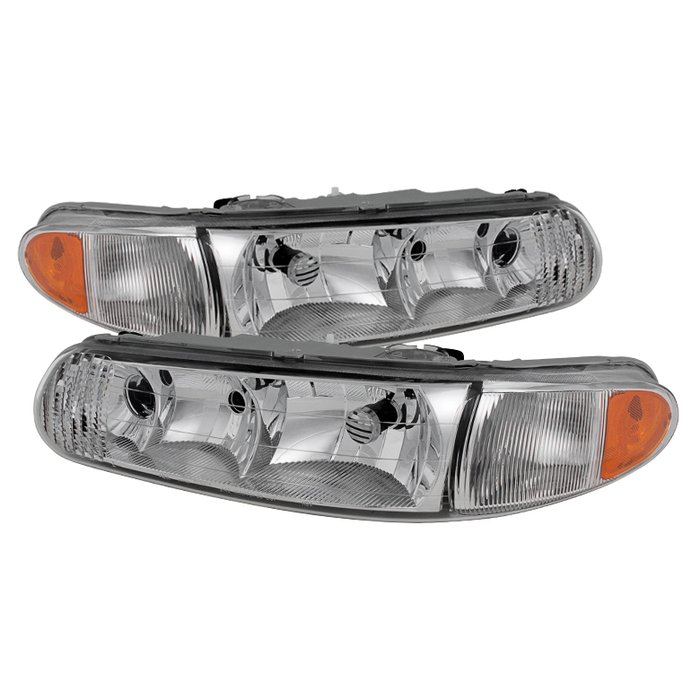( OE ) Buick Century 97-05 Regal 97-04 Crystal Headlights - Chrome