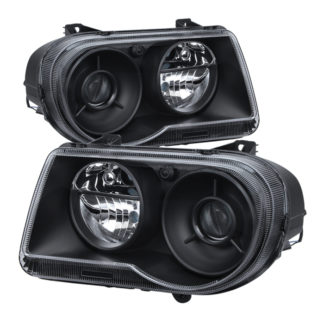( OE ) Chrysler 300C with Halogen Projection Style only 05-10 (Does Not Fit 300 or SRT-8 Models that use either Non Projection Halogen or HID Xenon Version) Headlights - Black