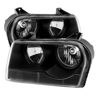 ( OE ) Chrysler 300 05-08 Halogen Non-Projection Style Only (Does Not Fit 300C or SRT-8 Models that use Projection Halogen or Xenon Headlights ) Crystal headlights - Black