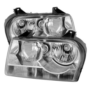 ( OE ) Chrysler 300  05-08 Halogen Non-Projection Style Only (Does Not Fit 300C or SRT-8 Models that use Projection Halogen or Xenon Headlights ) Crystal headlights - Chrome