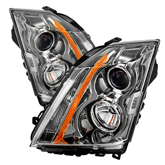 ( OE ) Cadillac CTS 08-12 / CTS-V 09-12 Halogen Only ( Don't fit HID Model )Projector Headlights - Chrome