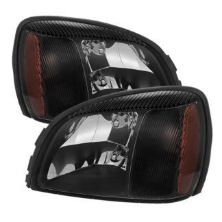 ( xTune ) Cadillac Deville 2000-2005 Crystal headlights - Black
