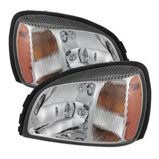 ( OE ) Cadillac Deville 2000-2005 Crystal headlights - Chrome