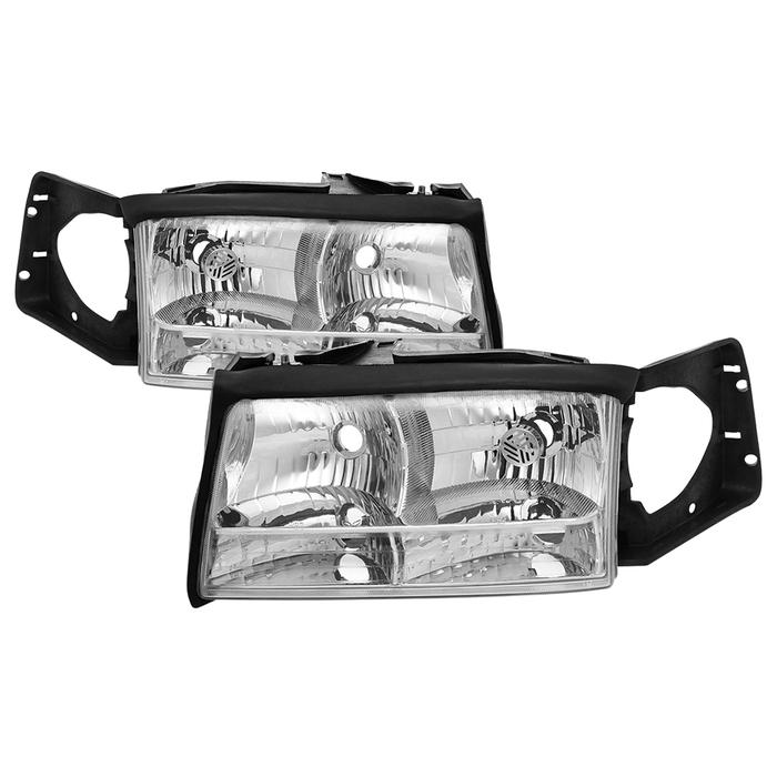 ( OE ) Cadillac Deville 97-99 OEM Style Headlights - Chrome