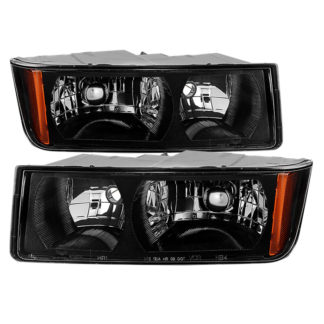 ( OE ) Chevy Avalanche with Body Cladding only 2002-2006 OEM headlights -OEM (BLACK)