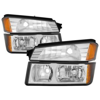 ( OE ) Chevy Avalanche with Body Cladding only 2002-2006 OEM headlights With Bumper Light - Chrome