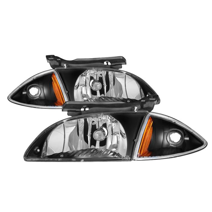 ( xTune ) Chevy Cavalier 00-02 Corner Lamp & Headlights 4pcs set-Black