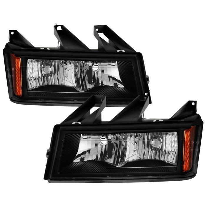 ( OE ) Chevy Colorado 04-12 / Canyon 04-12 / Isuzu i-208 i-350 2006 / Isuzu i-290 i-370 2007-2008 OEM Style headlights - Black