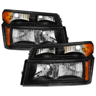 ( OE ) Chevy  Colorado 04-12 / Canyon 04-12 / Isuzu i-208 i-350 2006 / Isuzu i-290 i-370 2007-2008 OEM headlights With Bumper Lights - Black