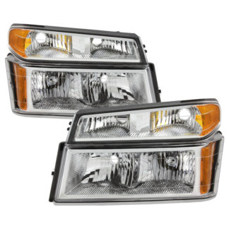 ( OE ) Chevy Colorado 04-12 / Canyon 04-12 / Isuzu i-208 i-350 2006 / Isuzu i-290 i-370 2007-2008 OEM headlights With Bumper Lights - Chrome