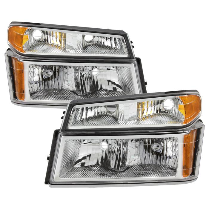 ( OE ) Chevy  Colorado 04-12 / Canyon 04-12 / Isuzu i-208 i-350 2006 / Isuzu i-290 i-370 2007-2008 OEM headlights With Bumper Lights - Chrome